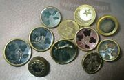 Lot 11 Antique Victorian Era Perfume Buttons - Flowers - Fruit - Moon And Stars +