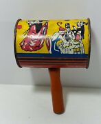 Vintage Noise Maker Metal And Wood Excellent Condition New Years/ Party