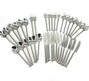 Pier 1 Pii17 Stainless 18/8 Twist Handle 38 Piece Flatware Forks Spoons Knives