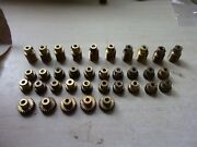 Meccano 35 Brass Pinions 19 And 25 Teeth And Worm Gears Some With Grub Screws 5