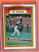 1972 Topps Jerry Johnson In Action 36 Nr/mint Ships In New Top Loader