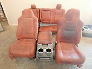 2008-2010 Ford F250 F350 Complete Seat Set King Ranch Leather