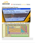 Xrf- X Ray Spectrometer Gold Nugget Reading With Periodic Table Guide