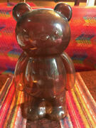 Large Plastic Coin Bank Gummy Bear Cute As Is 2004 Brown 12 Tall