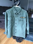 Vintage Military Us Army Shirt Jacket 5th Infantry And Specialist Patches Vietnam