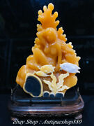 14 Natural Tianhuang Shoushan Stone Nude Beauty Belle Fish Goldfish Sculpture