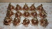 Nautical Marine Cargo Smooth Copper And Brass Pendant/ceiling/mount Light Lot 10