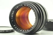 Mint Leica Summilux-m 50mm F1.4 Ver.2 Black Lens For M Mount From Japan