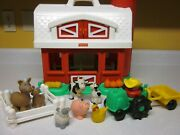 Fisher Price 1995 Vintage 2590 Red Barn Silo Little People Farm Toy