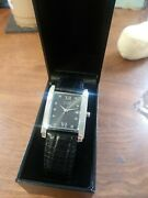 Citizen Eco Drive Watch Black Stainless Steel / Leather E010-s003 New In Box