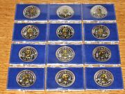American Patriots 12-coin Gold And Silver Set - Letcher Mint Melt Value= 463 F