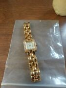 Elgin Ii Quartz Watch Stainless Steel Gold Tone El1028 New Without Box