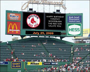 Personalized Old Fenway Park Scoreboard Photo 8x10 Red Sox