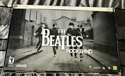 New Open Box Xbox 360 Beatles Rock Band Limited Edition Bundle Guitar Drums Mic