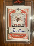 Jerry Rice 2021 Leaf Signature Series Ss-jr1 Autograph Auto 1 Of 1 Card