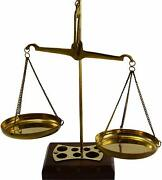 Antique Gold And Diamond Weighing Scales//brass And Wood Balance Scale Collectible