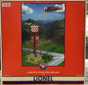 Lionel Animated Pylon With Airplane 6-32920 New In Factory Packed Box