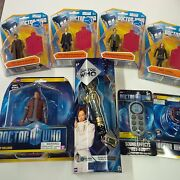 Doctor Who Lot Of 8 Items 10th Dr. Sonic Screwdriver, Figures, Sound Fx Fob Etc