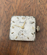 Rare Breitling Square 17 Jewels Wind Up Movement