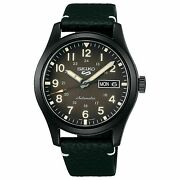 Seiko 5 Five Srpg41 Automatic Black Military Field Watch 100 Meter W/r Day Date