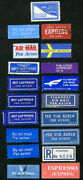World Stamps Used Nice Collection Old Air Mail Stickers