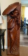 Amazing Walnut Carving From Artist Don Brownlee / Americana / Statue