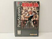 Resident Evil Long Box Playstation 1 Ps1 Game Complete W/ Manual Registration
