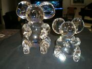 Steuben Glass Great Koala And Cub Bears - 2 Items - Signed - Ex Condition - Huge