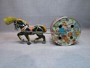 Marx Tin Litho Musical Circus Horse Pull Toy Rare