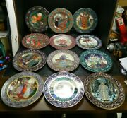 Complete Set Of 12 Heinrich Villeroy And Boch Russian Fairy Tales Collector Plates