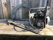 Used Rare Vintage Precision Bow + Straight Bar W/ Helper Chainsaw Combo