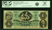Bank Of Penn Township 1 June 1 1861 Newman Collection Note Pcgs Vf 30
