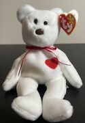 Valentino Brown Nose Ty Beanie Baby Pvc Original Rare Mint Condition With Errors