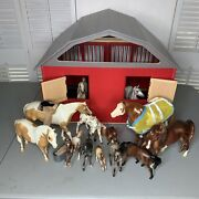 Breyer Horse And Barn Lot 13 Horses + Some Accessories