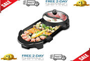 Seaan Electric Hot Pot Grill Indoor Korean Barbecue Grill With Large Capacity No