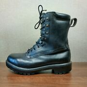 Vintage Gore-tex Military / Police Black Leather Combat Boots Uk 8 Vgc