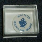 Gold Blue Peter Coin Badge And Original W/cup Football.gift For Men/women/girls