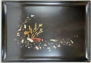 Couroc Of Monterey Ca Tray W/ Abalone Coral And Seaweed Inlay Mid Century Vintage