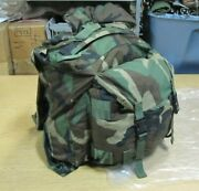 Used Us Army Combat Patrol Pack Backpack Woodland Camouflage 8465-01-287-8128