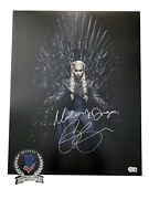 Emilia Clarke Signed And039game Of Thronesand039 Autograph 16x20 Photo Beckett Bas Got 9