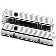 Billet Specialties 95220 Valve Cover Chevy Sbc Tall Balled Milled Polished