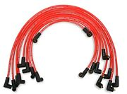 Mallory 604 8mm Red Pro Wire Spark Plug Wire Set Small Block Chevy Skt. Cap Over