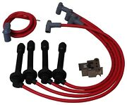 Msd 35359 Set Of 4 Spark Plug Wires New For Honda Civic 1992-2000