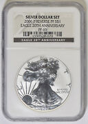 2006-p Silver Eagle Ngc Pf-69 Reverse Proof 20th Anniversary 29-070