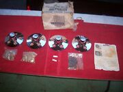 Vintage 1960and039s Nos Cragar Chrome Center 14 Covers Mustang Falcon Comet Set Of 4