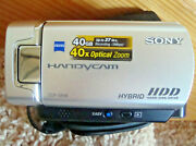 Sony Handycam Dcr Sr46 Zeiss 40gb Hdd Camcorder, Nightshot, Zoom, Extras Tested