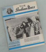 1940 Indian Motorcycle News Magazine Book Brochure Catalog Chief Scout Four 30.5