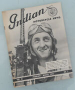 1944 Indian Motorcycle News Magazine Book Brochure Catalog Chief Scout Four 30.5