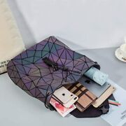 Geometric Luminous Backpack Holographich Purse And Flash Color Changes Shoulder