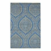 Feizy Amalfi 7and0399 X 9and0399 Transitional Wool Area Rug In Vallarta Blue/amber Gold